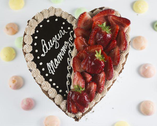 Torta cuore cioccolato e fragole - Pasticceria Ottocento - Milano