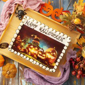 Torta di Halloween con foto stampata | Pasticceria Ottocento