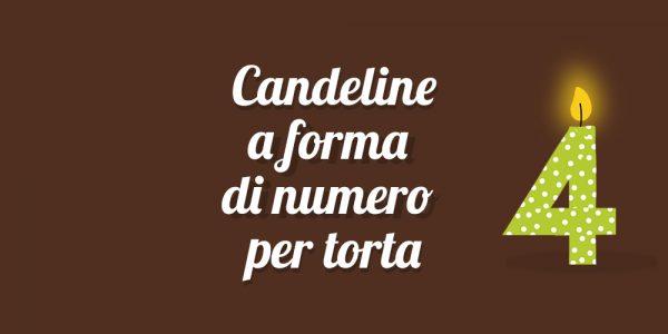 Candeline a forma di numero per torta - Pasticceria Ottocento