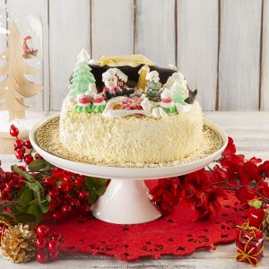 Torta Paesaggio di Natale Chantilly | Pasticceria Ottocento | Milano