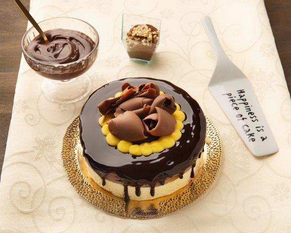 Torta gelato cioccolato e crema