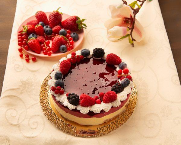 Torta gelato frutti di bosco e crema