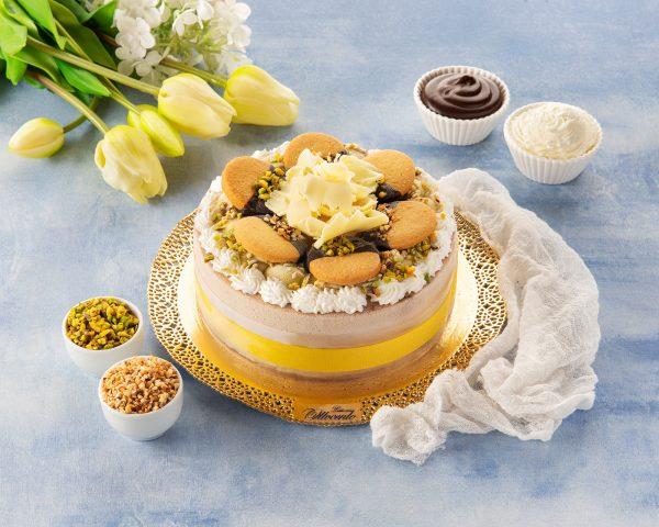 Torta gelato pistacchio e nocciola